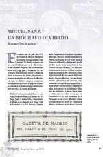 Miguel Sanz, un Biógrafo Olvidado, de Rosario die Maculet