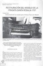 Restauración del Modelo de la Fragata Santa Rosalía 1767, de Miguel Godoy Sánchez