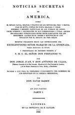 Noticias Secretas de América, de Jorge Juan y Antonio de Ulloa