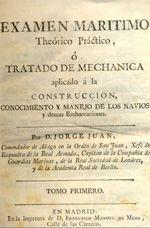 Exámen Marítimo, de Jorge Juan