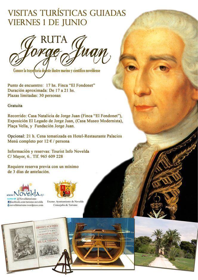 Creada la Ruta Jorge Juan para el próximo 1 de junio por parte del Ayuntamiento de Novelda