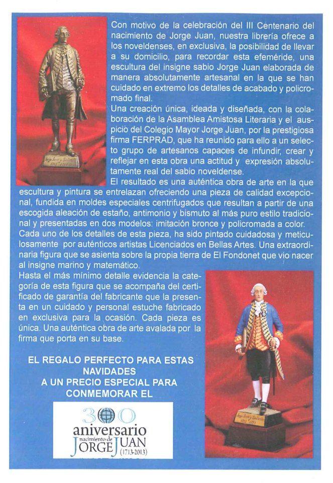 Esculturas conmemorativas de Jorge Juan