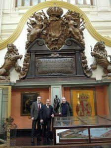 La delegación noveldense de la Asamblea Literaria Amistosa visita la Entidad Nacional en Madrid