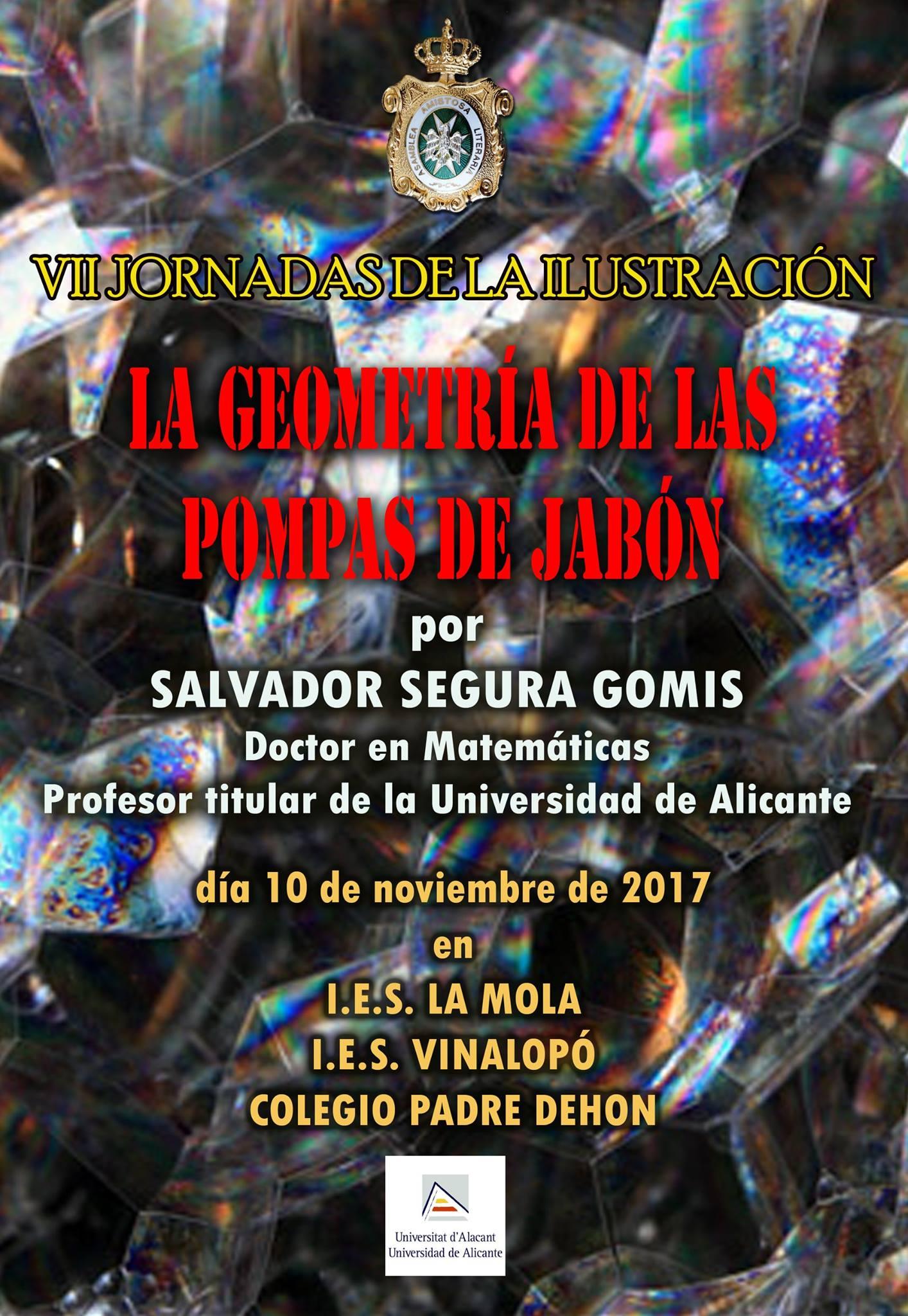 'La Geometría de las Pompas de Jabón' conferencia de Salvador Segura Gomis