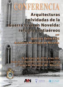 CONFERENCIA ARQUITECTURAS OLVIDADAS DE LA QUERRA CIVIL EN NOVELDA: LOS REFUGIOS ANTIAÉREOS