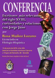 CONFERENCIA: ESCRITORES MÁS RELEVANTES DEL SIGLO XVIII, CURIOSIDADES Y RELACIONES CON JORGE JUAN