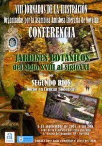 CONFERENCIA JARDINES BOTÁNICOS, del siglo XVIII al siglo XXI.