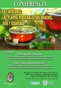 CONFERENCIA SOBRE LAS INFUSIONES Y LAS PLANTAS MEDICINALES, SUS ORÍGENES, USOS Y SEGURIDAD