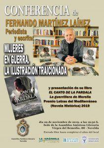 CONFERENCIA MUJERES EN GUERRA. LA ILUSTRACIÓN TRAICIONADA por Fernando Martínez Laínez