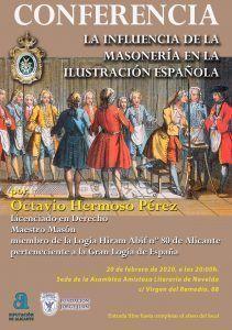 CONFERENCIA LA INFLUENCIA DE LA MASONERÍA EN LA ILUSTRACIÓN ESPAÑOLA