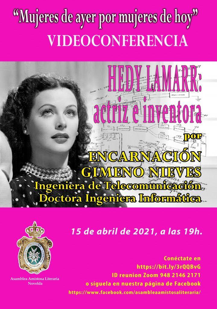 CONFERENCIA HEDY LAMARR: ACTRIZ E INVENTORA por ENCARNACIÓN GIMENO